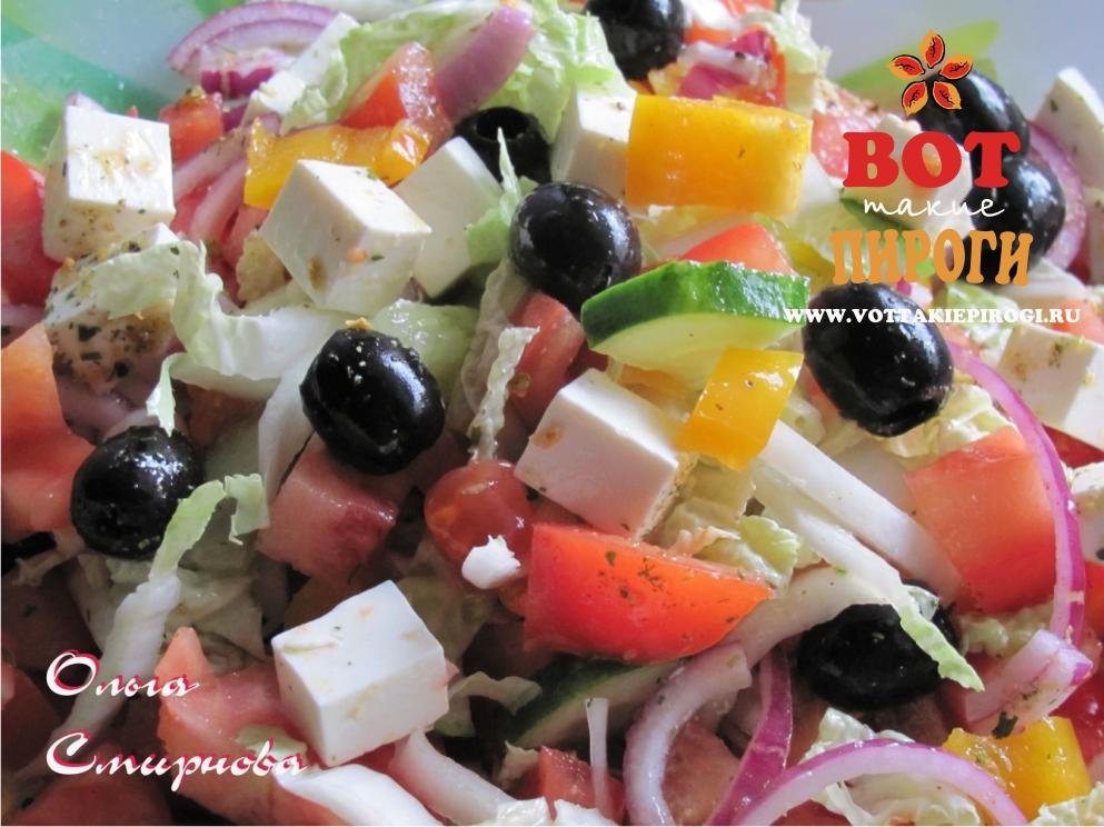 фото рецепт салата с сыром fetaki
