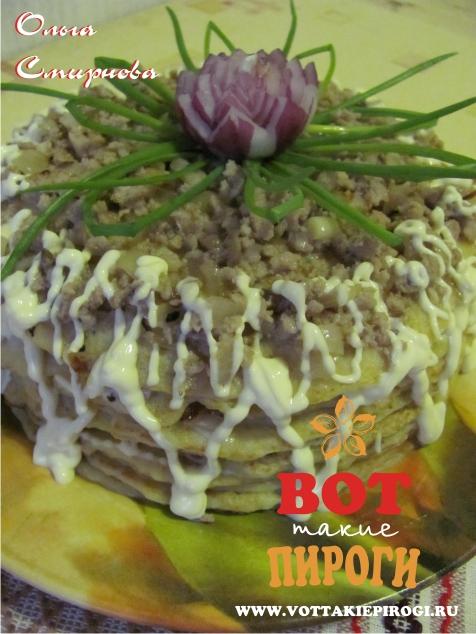 Закусочный кабачковый торт