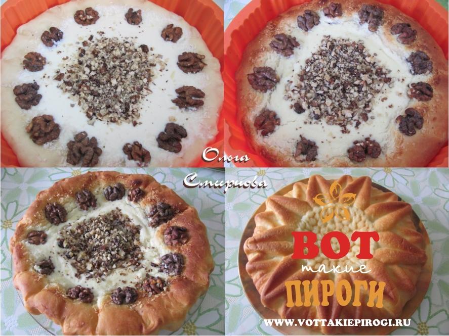 Пирог в силиконовой форме с творогом
