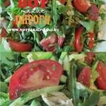 Салат овощной с рукколой и курицей