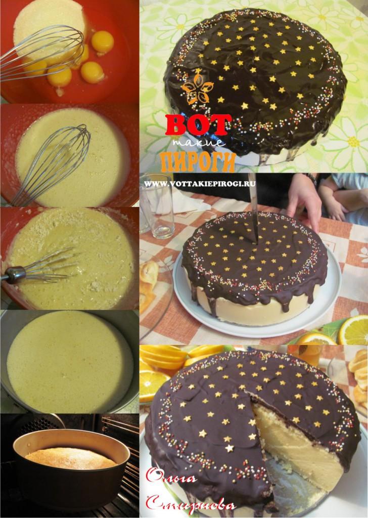 домашний торт птичье молоко бисквит
