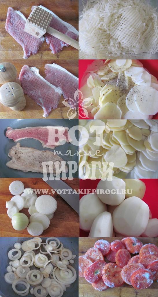 картофель с мясом в фольге ингредиенты