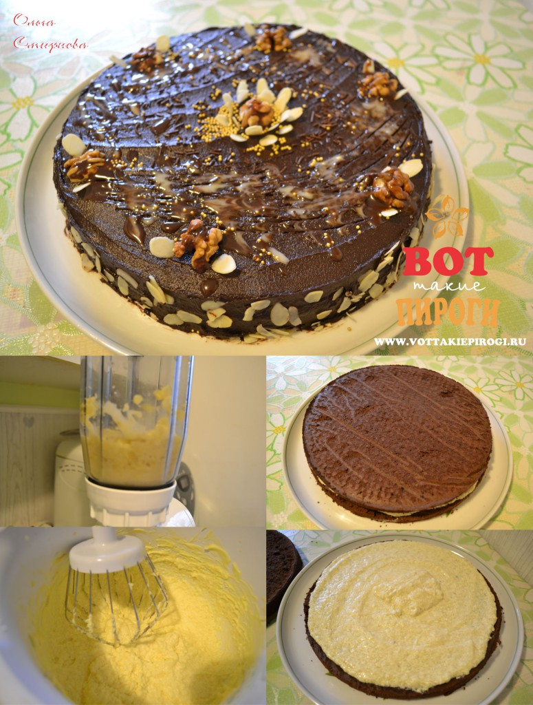 Банановый крем для шоколадного торта