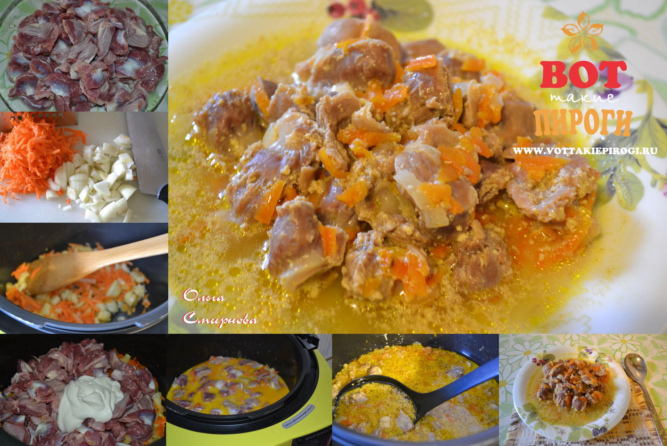 желудки куриные с картошкой рецепт в мультиварке
