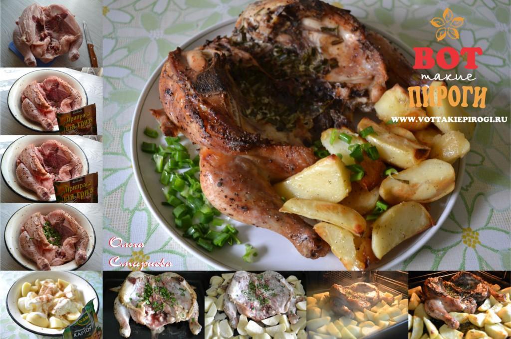 Вкусная запеченная курица в духовке