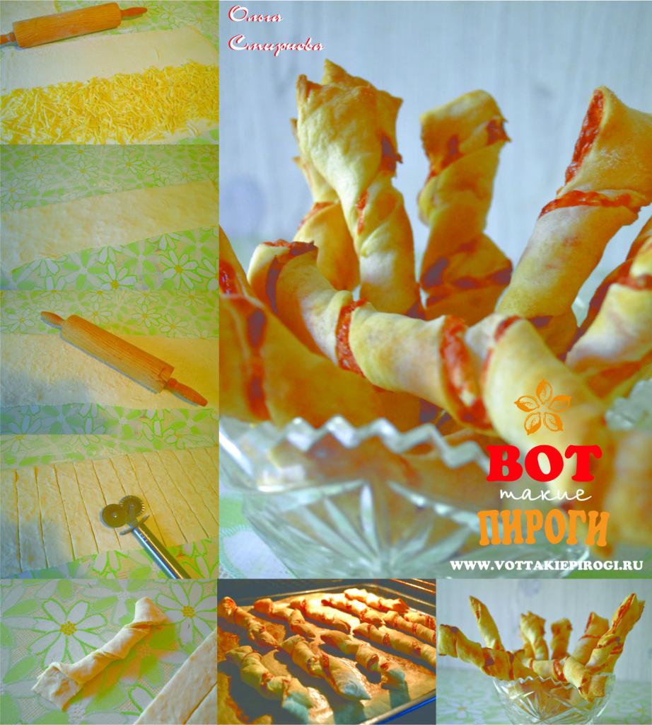 слоеные сырные палочки