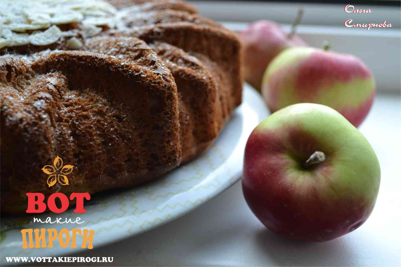 Пирог на кефире с яблоками