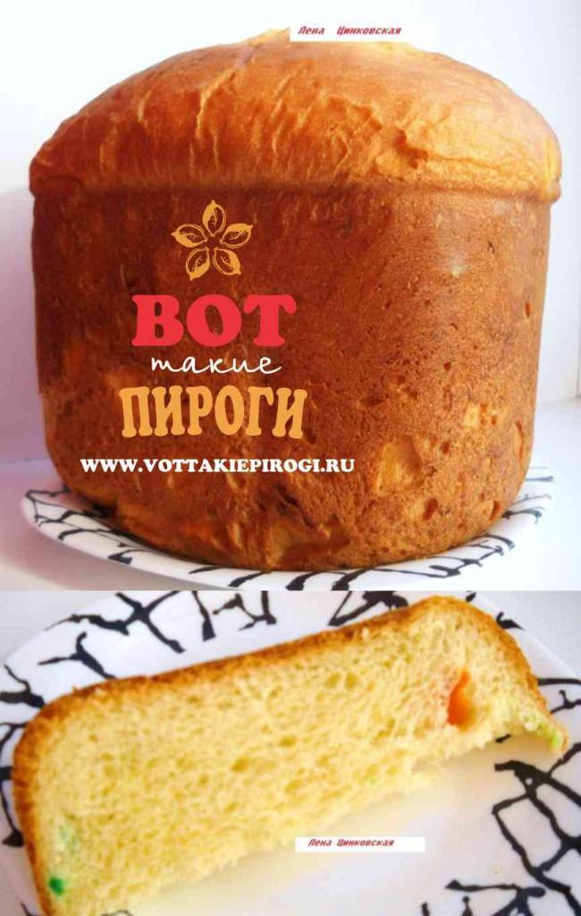 хлеб сдобный в хлебопечке