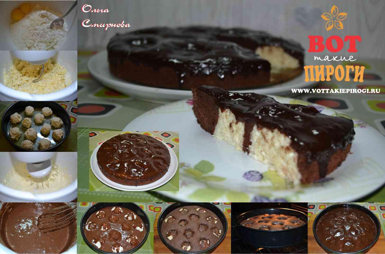 с поваренок шариками рецепт торт Шоколадный творожными