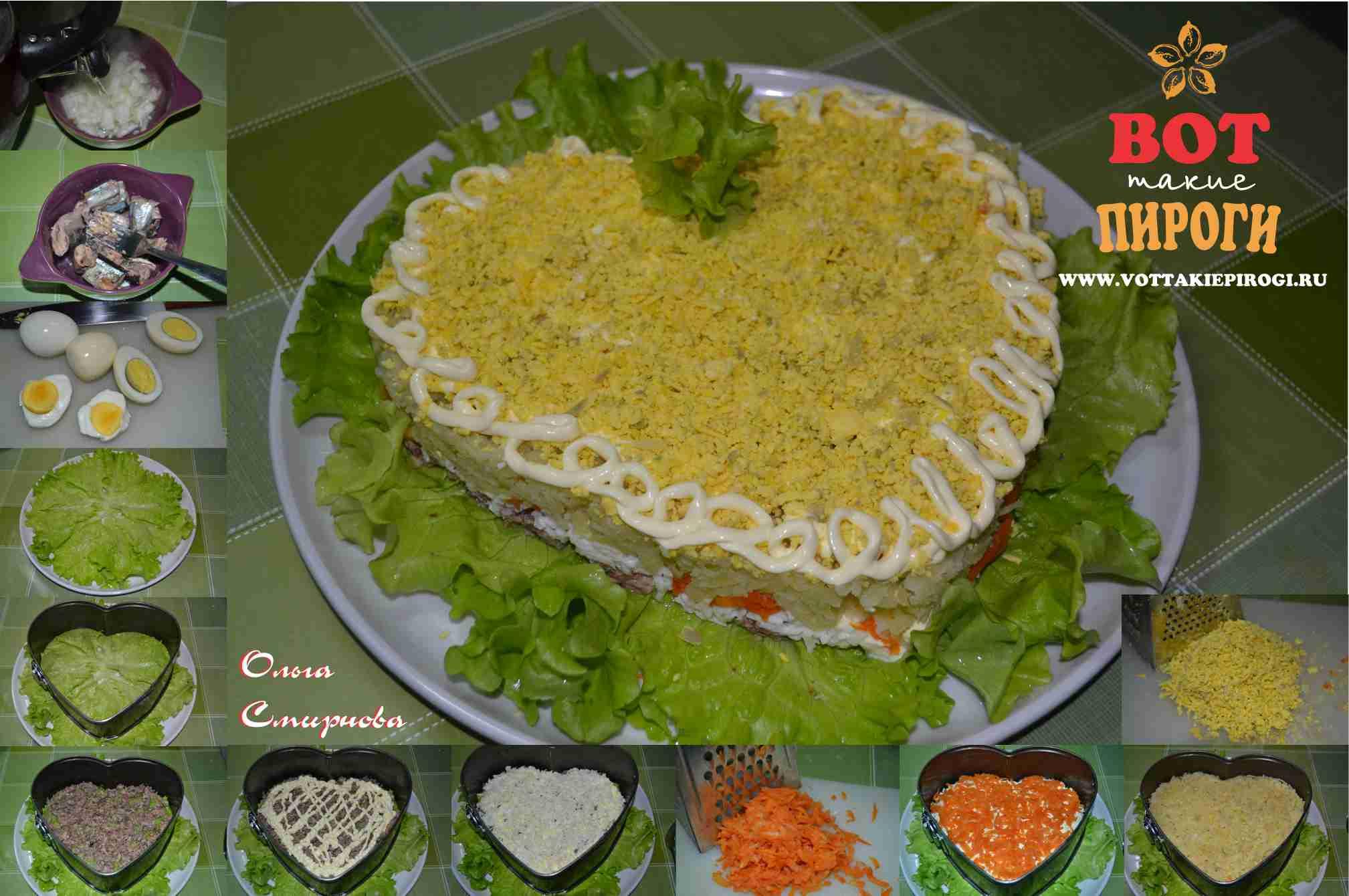 Рецепт салатов популярные с пошаговой фото