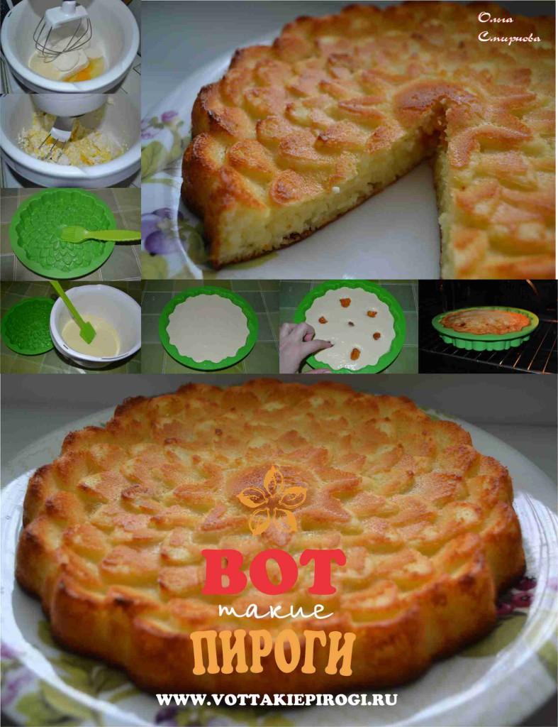 творожный пирог  с манкой