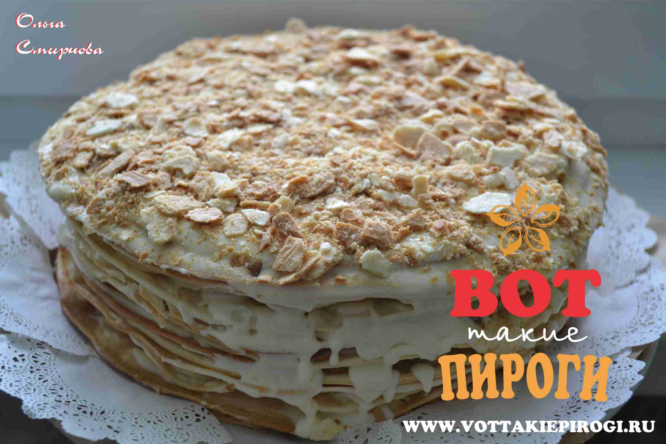 Как красиво украсить торт наполеон в домашних условиях фото пошагово