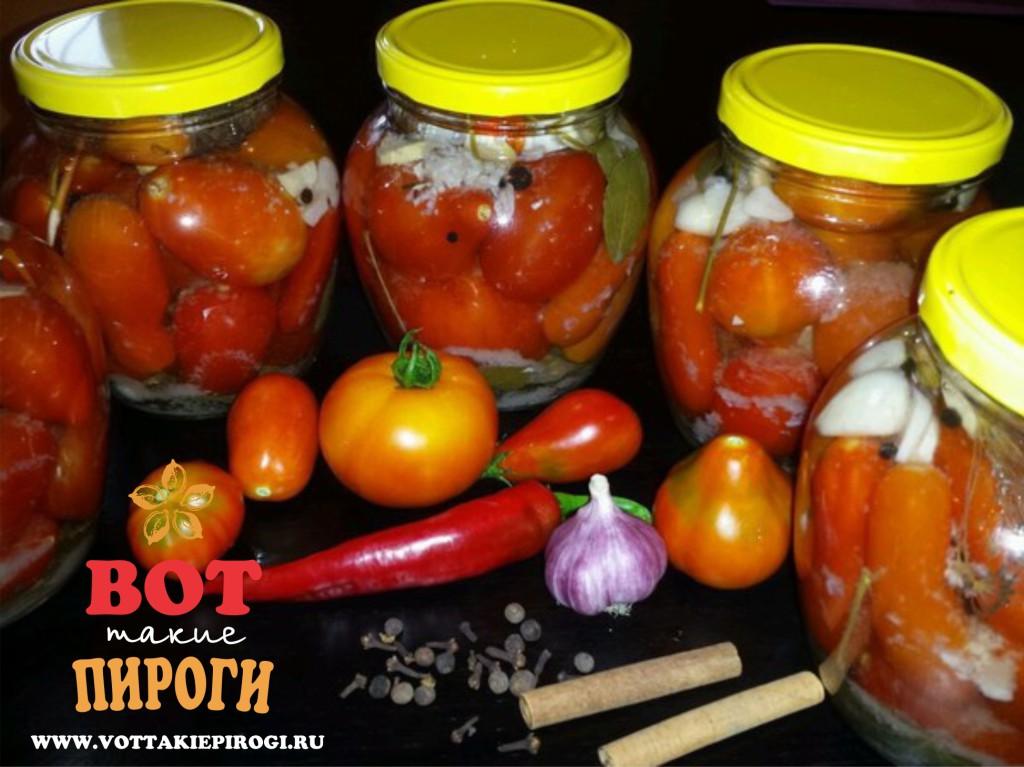 Маринованные томаты с чесноком