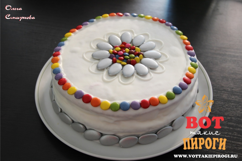торт Радуга с мастикой
