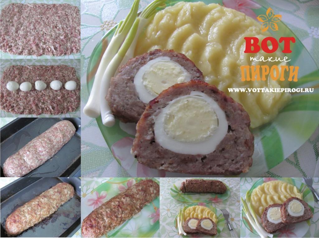 Рецепт мясного рулета с яйцом
