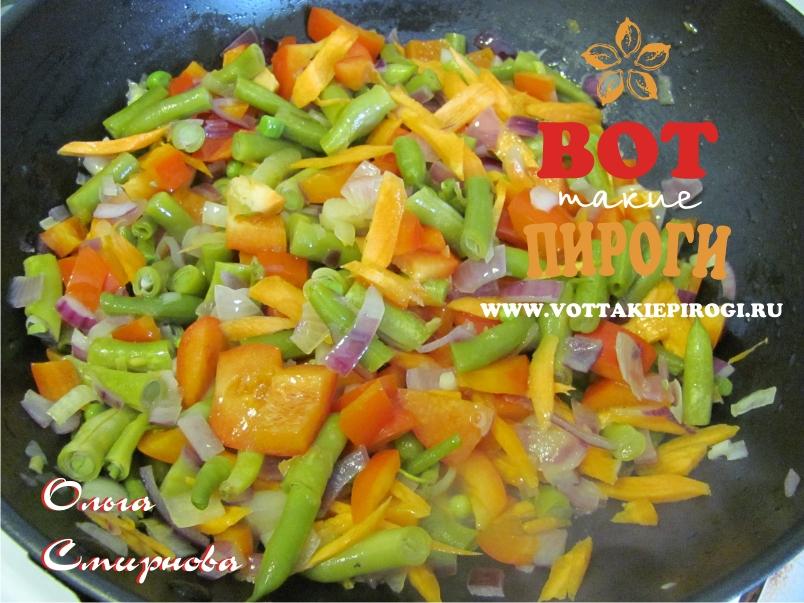 Гарнир рис с овощами