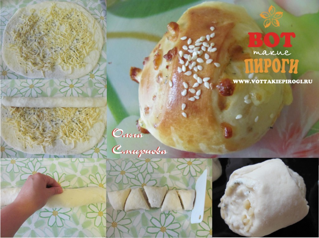 Дрожжевые булочки с сыром