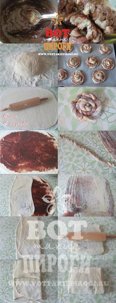 шоколадные булочки пошаговые фото
