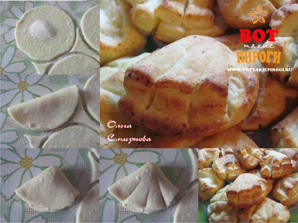 печенье  творожное гребешки