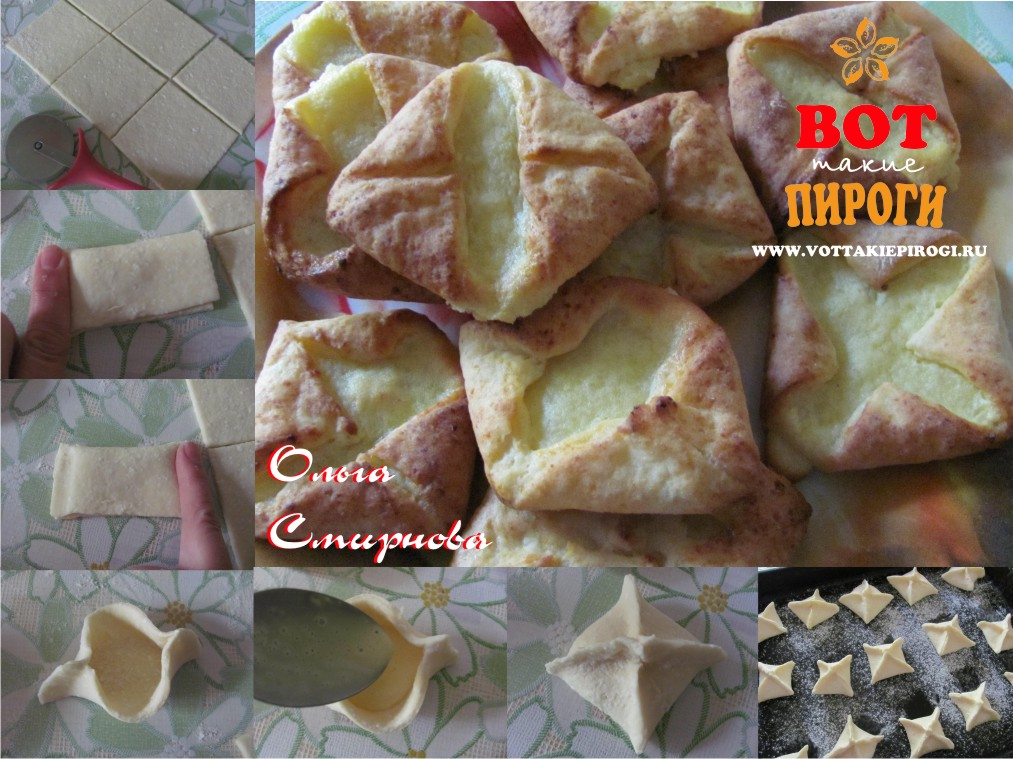 печенье творожное конвертики