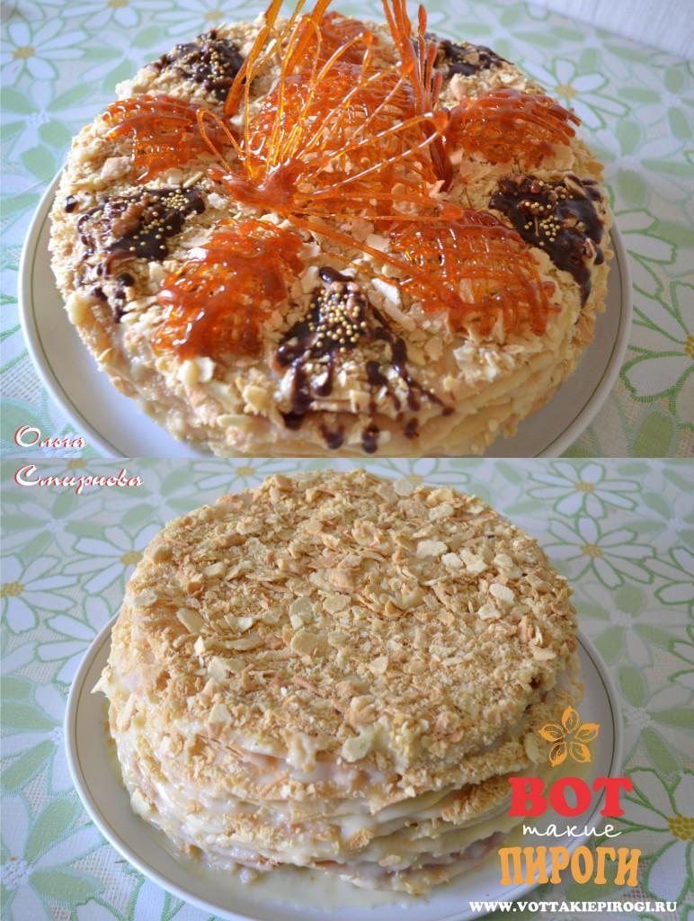 как украсить торт Наполеон